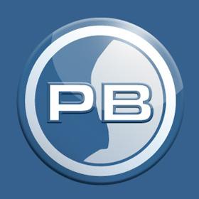 PB-Logo, 3D, einfach