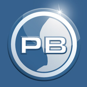 PB-Logo, 3D, Glanz
