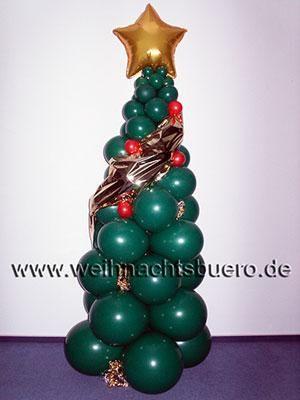 """Ballondekorationen Weihnachtsträume """"in Ballon"""", als Dekoration oder persönliches Geschenk."""