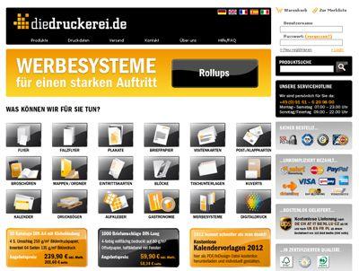 Onlineshop für Drucksachen www.diedruckerei.de Für das europäische Ausland gibt es den Onlineshop auch in englischer, französischer, spanischer und italienischer Sprache unter www.onlineprinters.com.