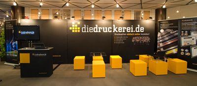 Ausstellungsstand der Onlineprinters GmbH Ausstellungsstand der Onlineprinters GmbH