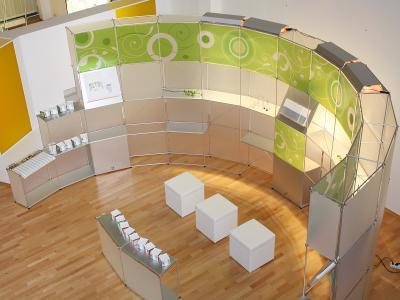 mew – Galeriestand, System constructiv CLIC rund