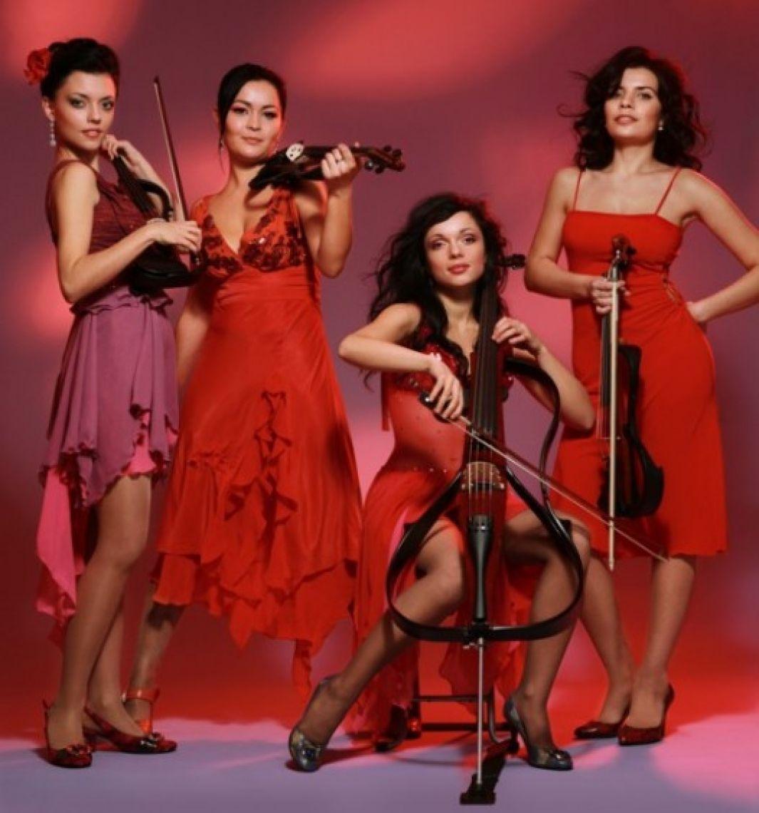 Asturia Quartett Bei dem Electric String Quartett stockt einem der Atem – wow  Vier wunderschöne junge Frauen mit drei Violinen und einem Kontrabass entführen uns in die zauberhafte Welt der Klassik- und Popmusik. Gänsehautfeeling pur. Die Absolventen des Konservatoriums in Kiev präsentieren eine umwerfende Sreichquartett-Show, untermalt mit Elektronikklängen, Lichteffekten und einer grandiose Bühnenshow. Die Verbindung von Klassikmusik mit modernen Rhythmen der heutigen Zeit schafft ein Wellenbad an Emotionen. Ausdrucksstark und energiegeladen verleihen die vier Künstlerinnen von ASTURIA der Klassik einen neuen Charakter. Sie spielen in Museen, Kirchen und begeistern Jung und Alt auf den Bühnen der Welt.  Freuen Sie sich auf ASTURIA – klassische Rhythmen, präsentiert von umwerfenden Frauen in einer atemberaubenden Musik-Show.