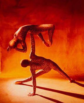"""Die Leopards Die Darbietung von Viktor und Natalya Nebrat verbindet in absoluter Perfektion ästhetische Bewegung mit außergewöhnlichen Akrobatik voller katzenhafter Geschmeidigkeit. """"Die Leopards bewegen sich wie zwei geschmeidige Raubkatzen, verbiegen ihre Körper und balancieren sich gegenseitig auf den Händen."""" BLZ. """"Mit großer Gelassenheit zeigen die """"Leopards"""" aus der Ukraine kraftvolle Artistik."""" Oranienburger Generalanzeiger. Die Leopards wurden auf den Festivals in Paris/Frankreich """"Festival Mondial Du De Demain"""" und Tornai/Belgien """"La Piste aux Expors""""(Bronze Medaille) ausgezeichnet. Neben Engagements in Event- und Galaveranstaltungen in Europa, können die beide Künstler auf Auftritte im Wintergarten Variete Berlin, Roncalli´s Apollo Variete Düsseldorf, GOP Variete Hannover, Essen und Bad Oeynhausen, Krystallpalast Variete Leipzig und dem Cabaret du Casino Monte Carlo hinweisen. In verschiedenen Fernsehsendern in Deutschland, Belgien, Spanien, Frankreich und Chile waren sie bereits präsent. Für internationale Messepräsentationen konnten die Leopards bereits führende deutsche und internationale Firmen vertreten; so unter anderem V W, Mercedes, Jaguar, Opel, Citroen, Toshiba, Nissan, FULDA Reifen ,Garant Möbel, Ericsson, Xerox u.v.a..."""