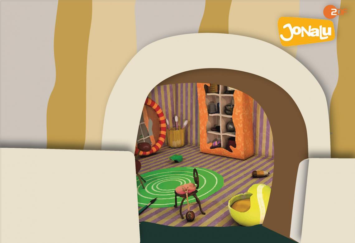 Making-Of - JoNaLu-Bühnenshow Erste Entwürfe zur Bühnenkulisse der neuen Show - die Mäusehöhle ist schon da!