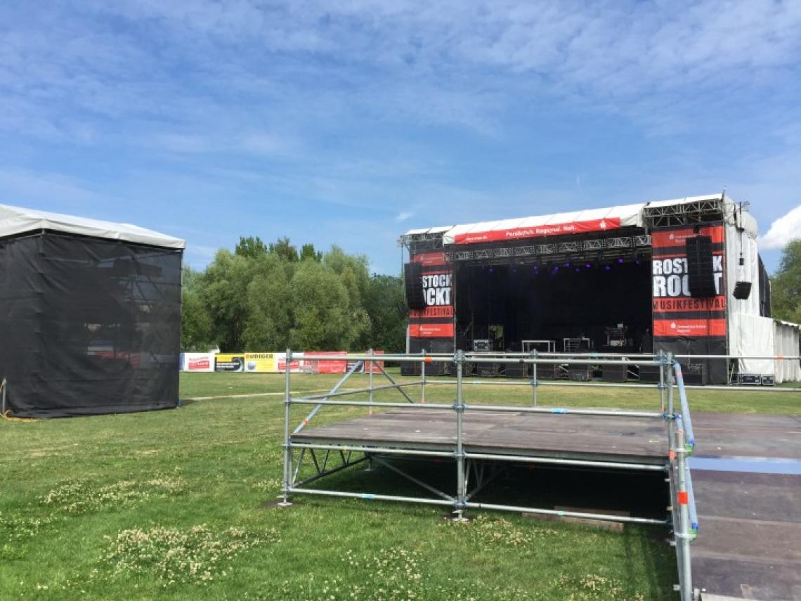 Musikfestival Rostock Rockt - IGA Park Rostock CS Bühne, FoH, Rollstuhlpodest