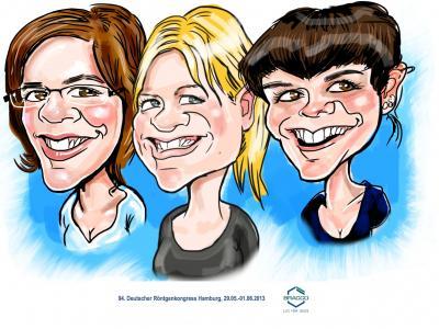 iPad Karikaturen  iPad Karikatur gezeichnet auf dem Röntgenkongress 2013 in Hamburg..
