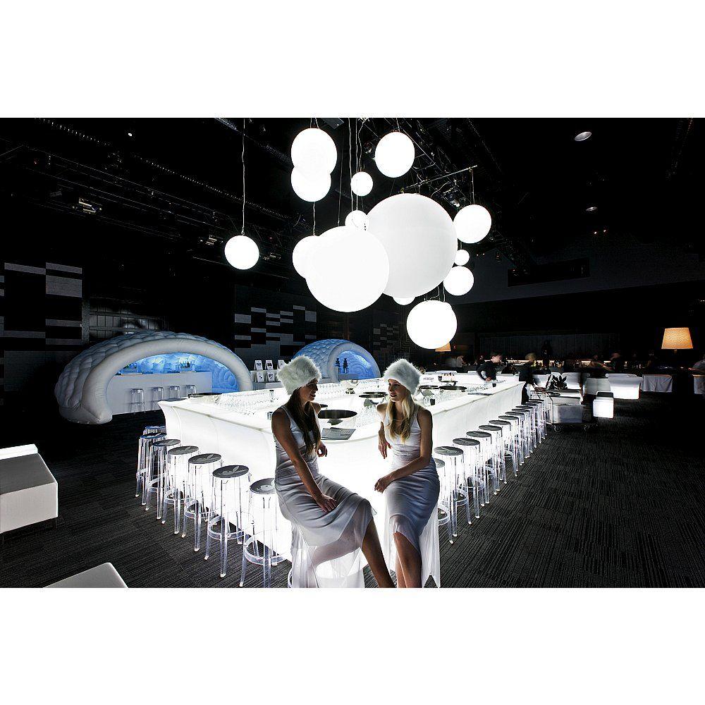 Deko Licht Elegante Designer Hängelampe aus weißem Opal-Kunststoff mit angenehmem blendfreiem Licht für eine schöne Atmosphäre.