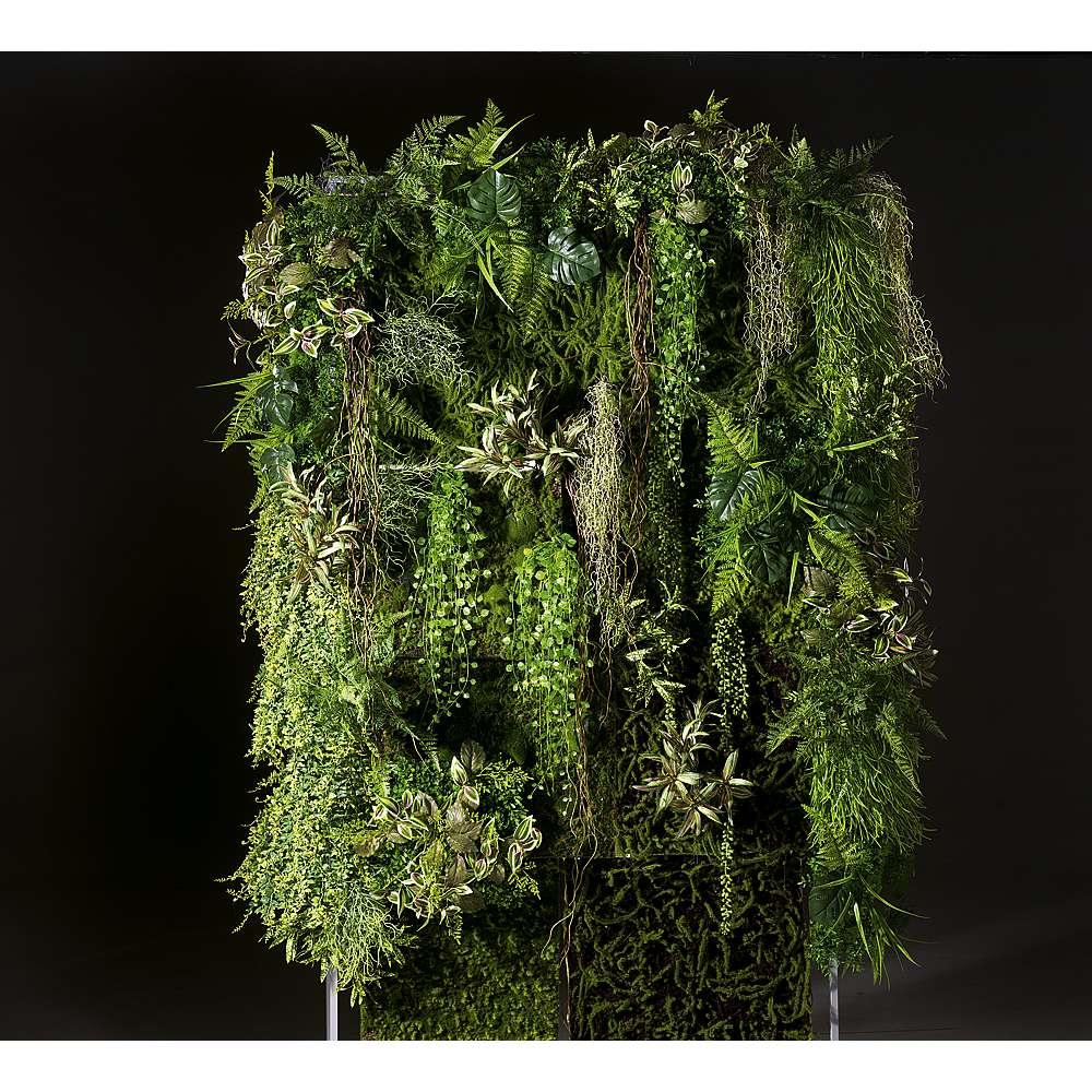 Dekoidee Vertikaler Garten Mit dieser ausgefallenen Wandgestaltung schaffen Sie einen originellen Blickfang und verschönern Ihre Wände in Praxen, Bürogebäuden, Krankenhäusern oder Einkaufszentren. Vertikale Gärten aus Kunstpflanzen sind pflegeleicht und immergrün, ermöglichen die Nutzung ungenutzter Flächen und schaffen ein besonderes Raumempfinden, welches Ruhe und Vielfältigkeit ausstrahlt.
