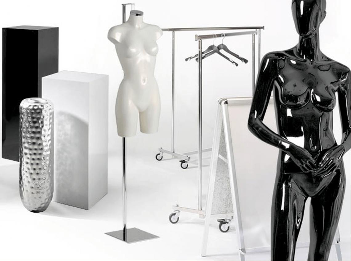 Ladenausstattung Konfektionsständer, Preisauszeichner und Informationsständer - alles für einen perfekt ausgestatteten Verkaufsraum.