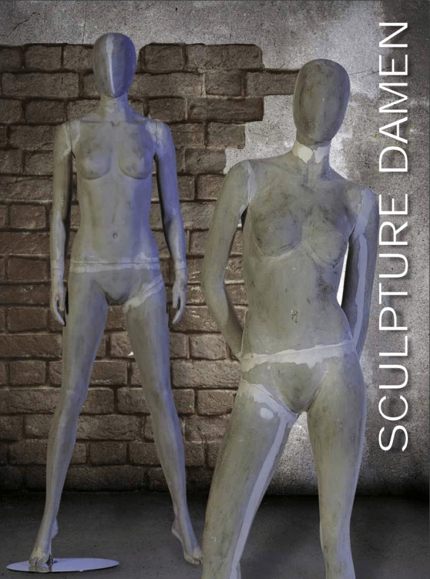 Sculpture Außergewöhnlich auf den ersten Blick, beton-typische Grau-Nuancen in Matt-Finish verleihen diesen Schaufensterfiguren einen einzigartigen, modernen Betonoptik Style.
