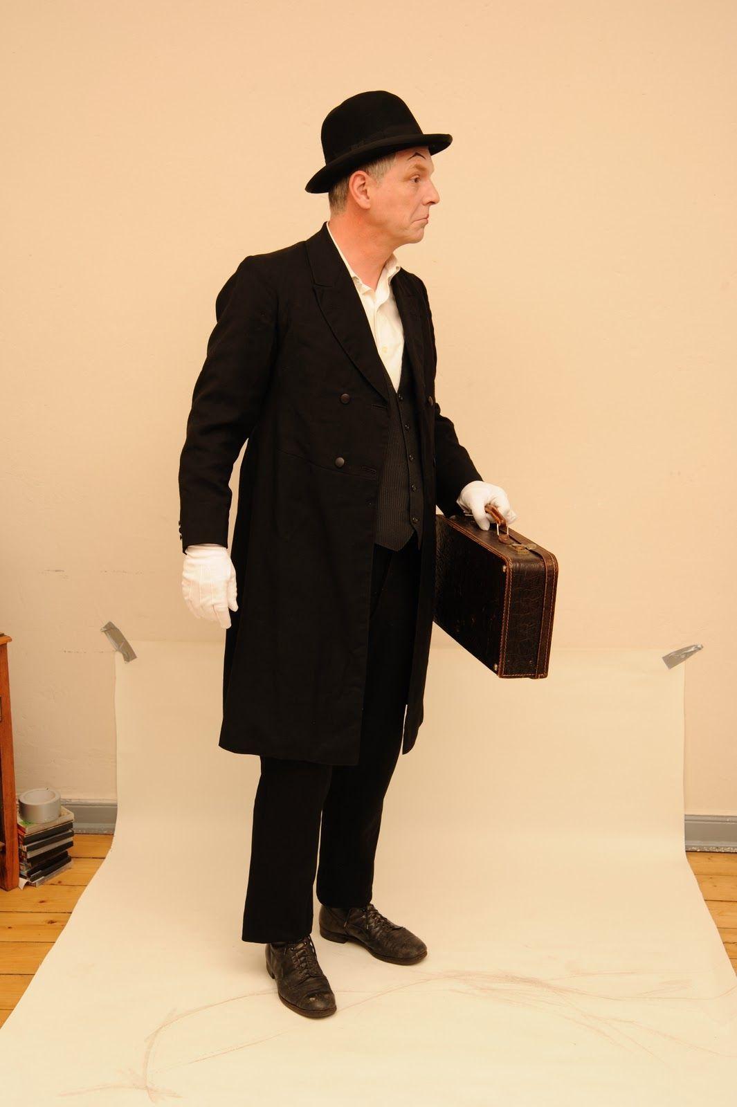 Mr.T. auf dem Weg zur Garderobe.