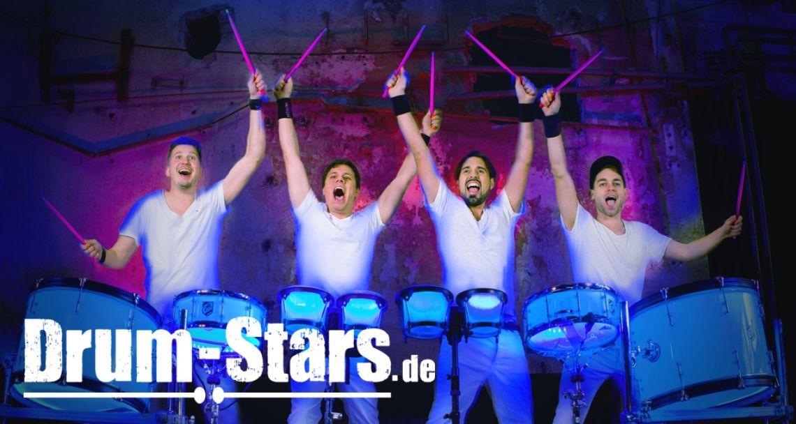 Percussion-Show Drum-Stars  Drum-Stars bietet eine erfolgreiche Trommel- & Percussionshow aus Süd-Deutschland mit abendfüllendem Konzertprogramm und maßgeschneiderten Shows für Events, Messen und Teambuilding-Workshops.