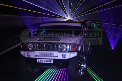 Automobilpräsentation Hier sehen Sie eine Neuwagenpräsentation wie sie in einem Autohaus oder direkt bei einem Hersteller stattfinden könnte. Selbstverständlich können auch andere Produkte mit einer imposanten Lasershow in Szene gesetzt werden.