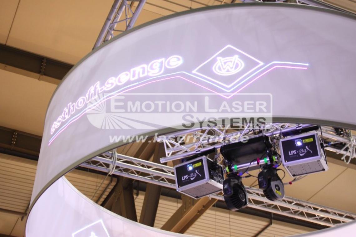 Messe ITMA Mailand 360° Grafikprojektionen für den deutschen Maschinenbauer Osthoff-Senge auf der Itma 2015.