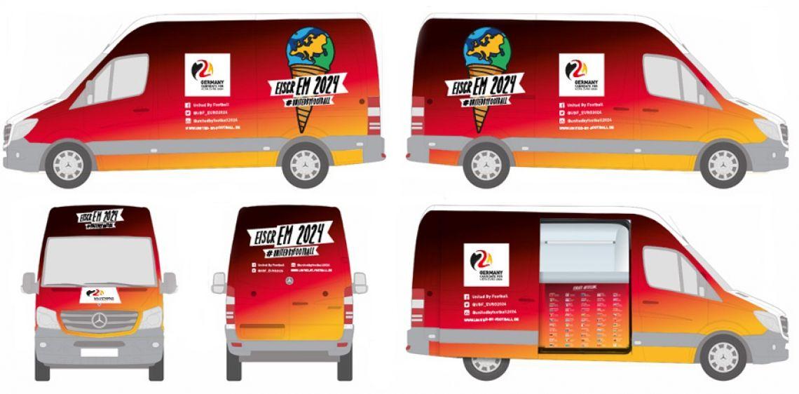 Nach Kundenwünschen das individuelle Eiswagen Branding