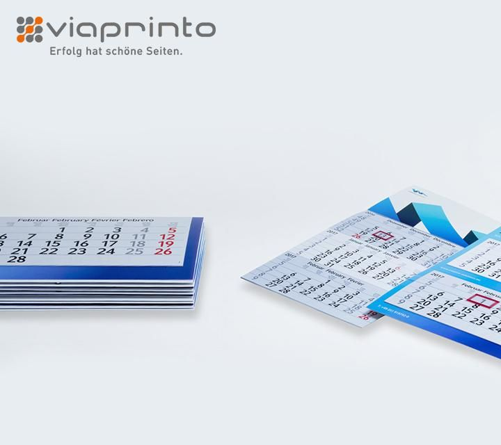 Mehr Fülle und Folie - viaprinto erweitert die Kalender