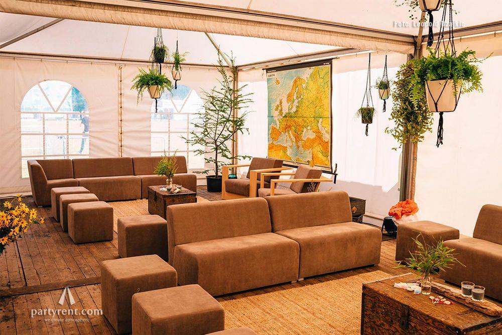 Festival-Lounge im Boho-Style
