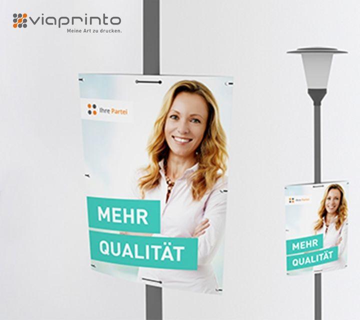 Hohlkammerplakate zum Wahljahr bei viaprinto