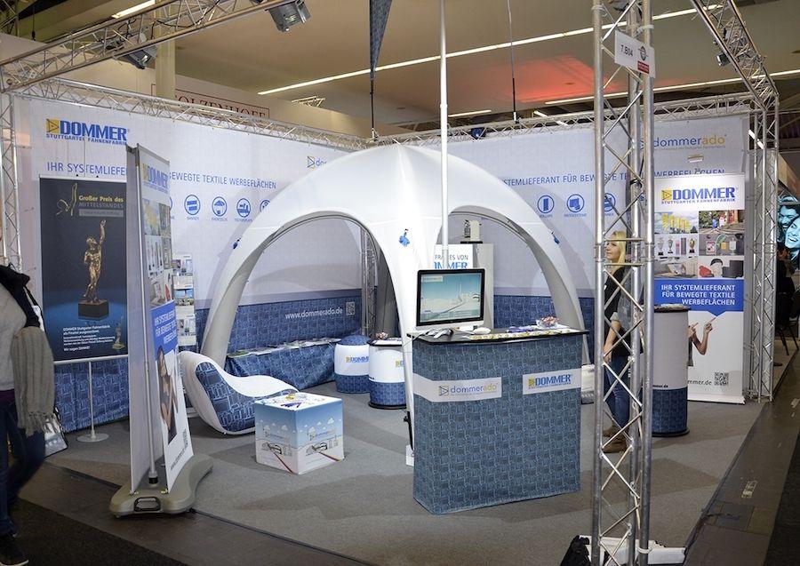 Dommer präsentierte auf der BoE aufblasbare AirQuick-Produkte