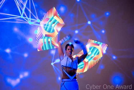 Magische LED-Show visualisiert Firmenlogos