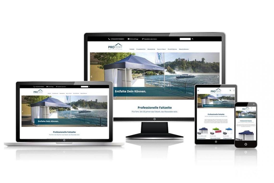 Die neue Webseite von Pro‑Tent ist online