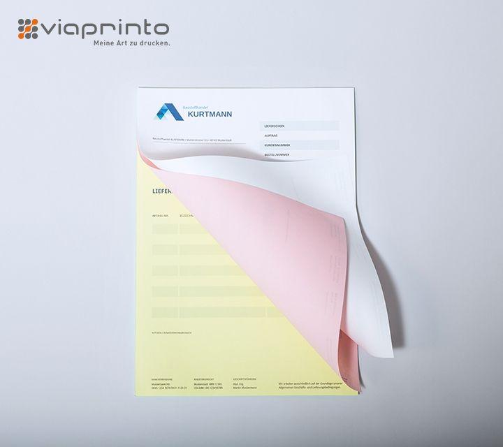 Schnelle Kopien mit Durchschreibesätzen von viaprinto