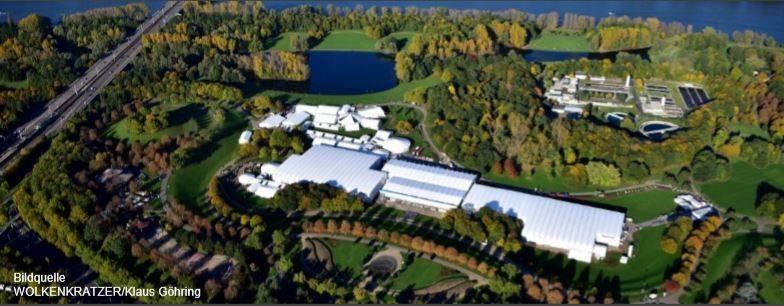 Temporäre Event-Infrastruktur für den grünen Gipfel in Bonn