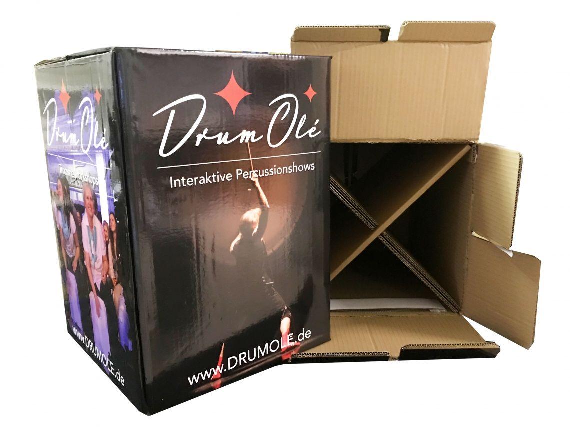 DRUM OLE Drum-Workshops jetzt mit bedruckbaren Papp-Cajons