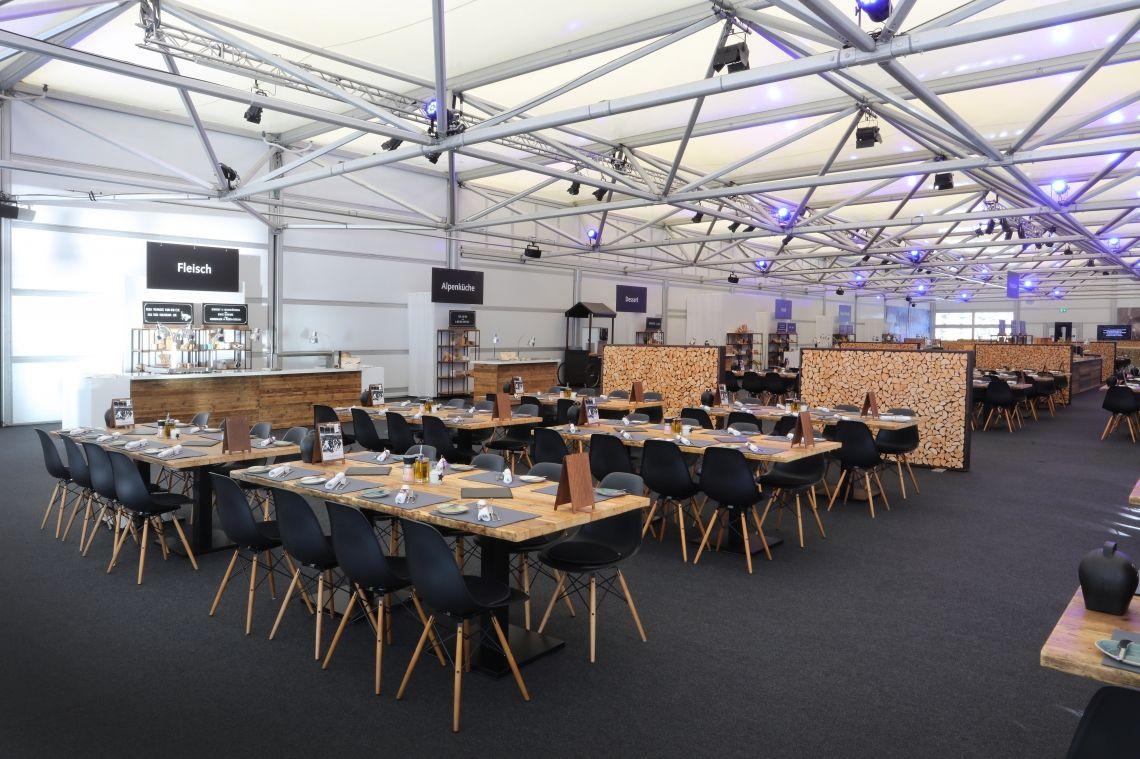 Party Rent stattete den VIP-Hospitality-Bereich beim Spengler Cup aus