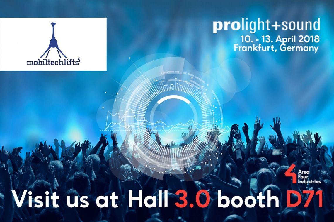 Mobiltechlifts auf der Prolight & Sound 2018