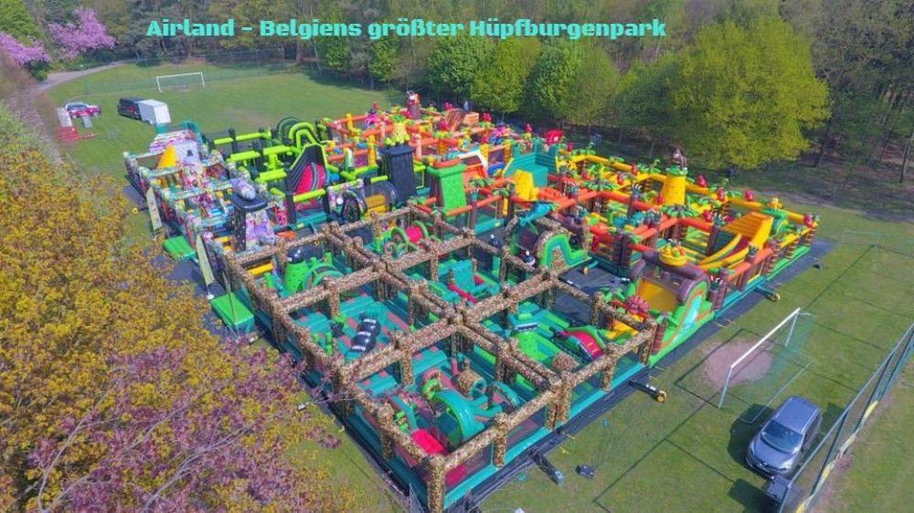 Gigantischer Hüpfburgenpark mit 1800qm