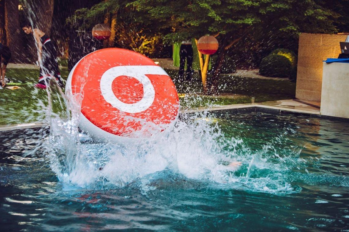 schwimmende Werbung
