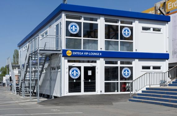 Mobile VIP-Lounge beim SV Darmstadt 98