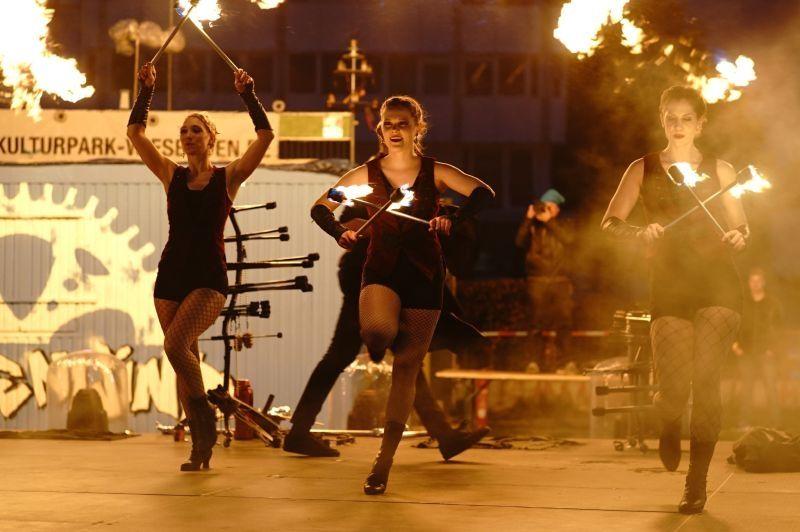 Feuershow für die Venezianische Messe in Ludwigsburg