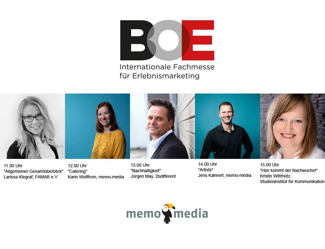 BOE - Guided Tours werden erstmalig durch die memo-media Verlags-GmbH organisiert