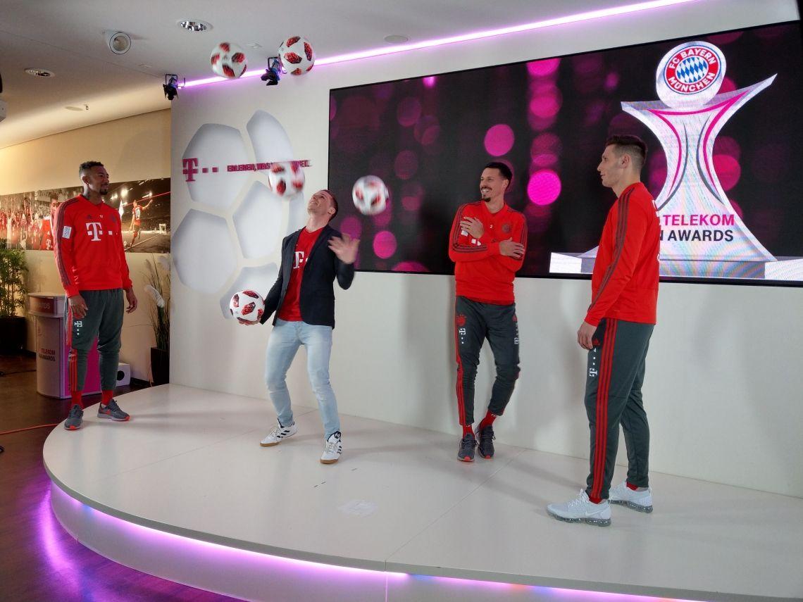 Kicken mit den Profis vom FC Bayern München
