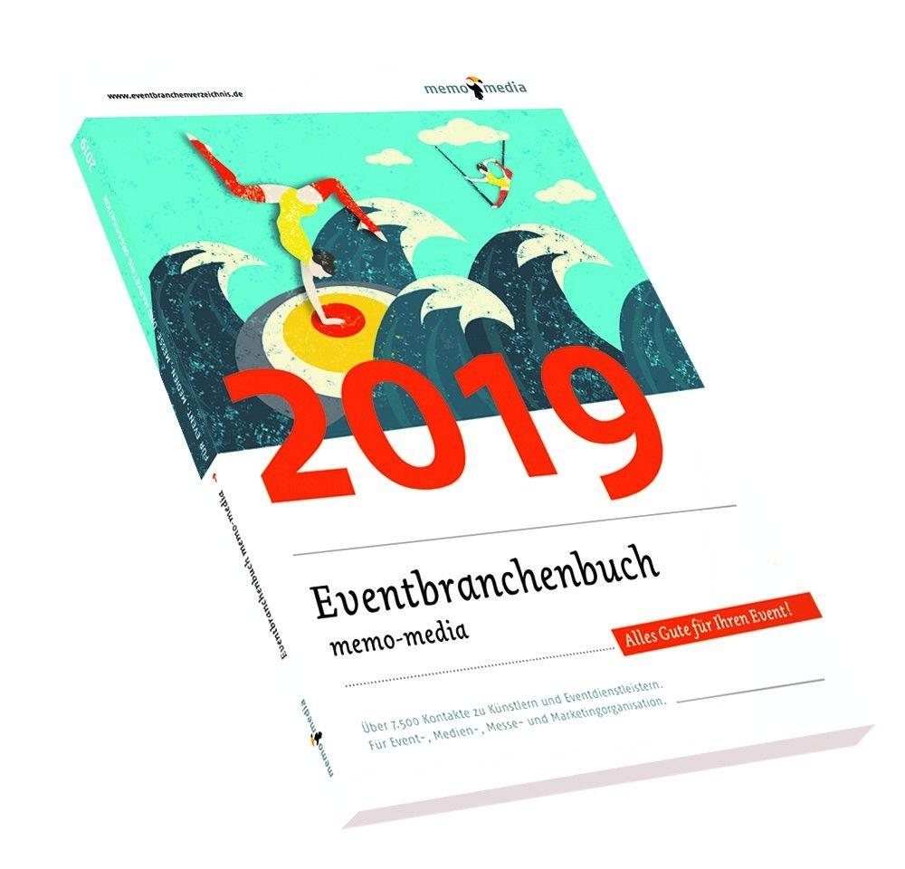 memo-media Verlags-GmbH präsentiert das Eventbranchenbuch 2019 mit neuer Struktur