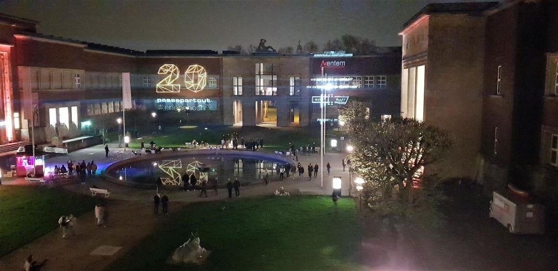 Aventem illuminiert den Düsseldorfer Kunstpalast
