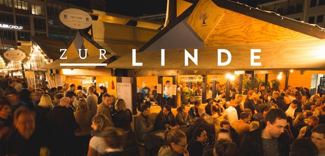 Die Linde erweitert ihre Laube auf dem Stuttgarter Weindorf