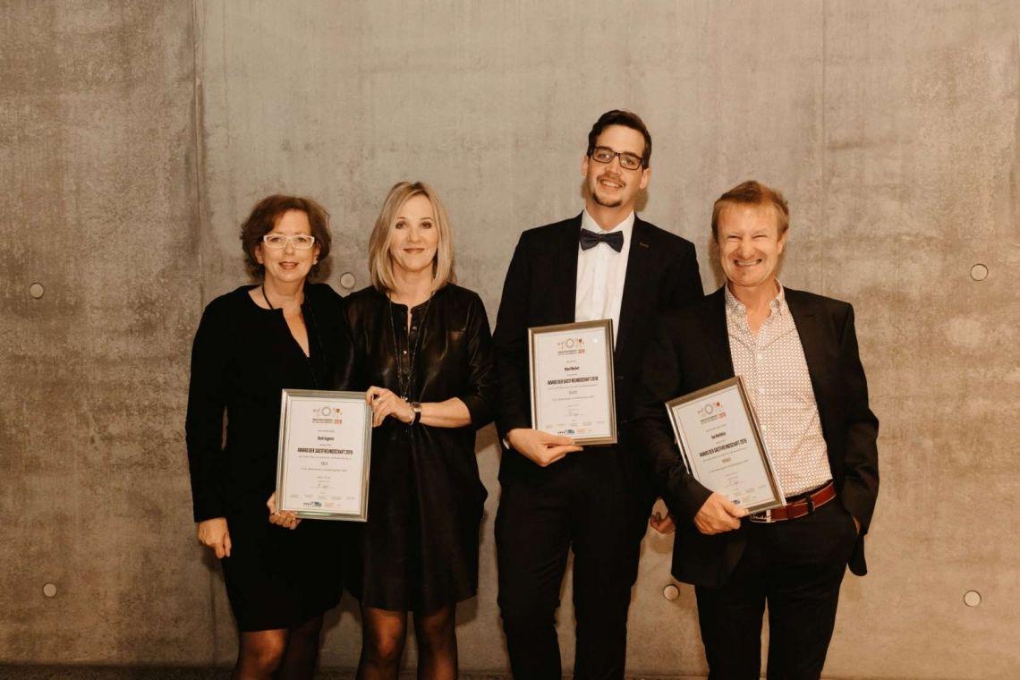 Kirberg Catering gewinnt mit DANK AUGUSTA den Award der Gastfreundschaft 2019 in Gold