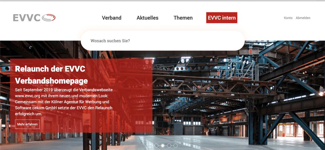 Übersichtlich, modern und responsiv: Erfolgreicher Relaunch der EVVC-Homepage