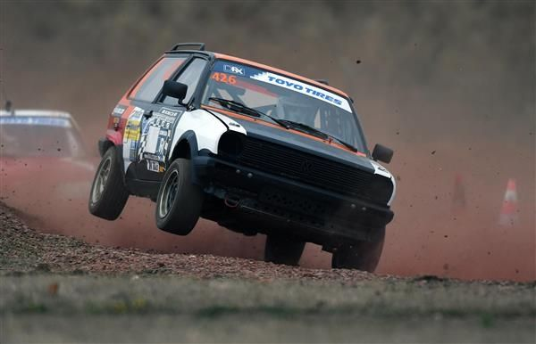 Titelkampf der Deutschen Rallycross Meisterschaft in Oschersleben