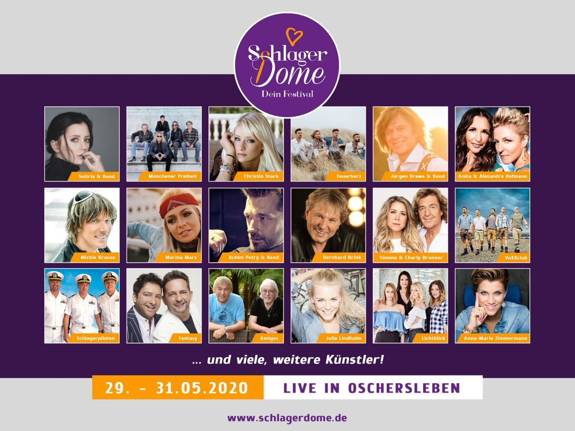 SchlagerDome 2020 – Europas erstes mehrtägiges Schlagerfestival startet