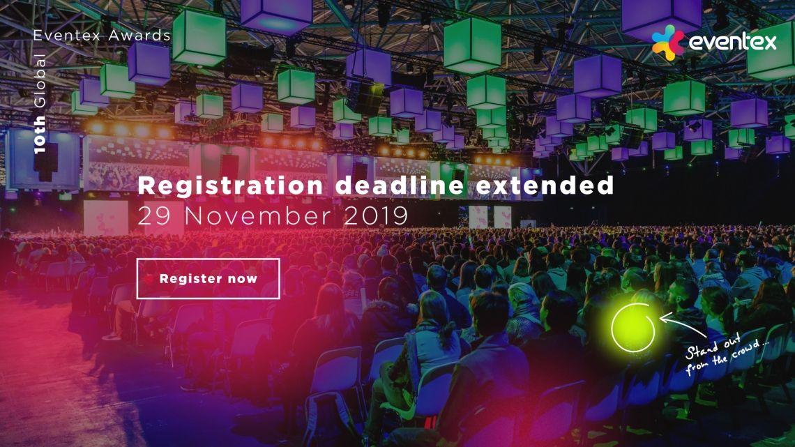 Anmeldeschluss für die 10. Eventex Awards verlängert
