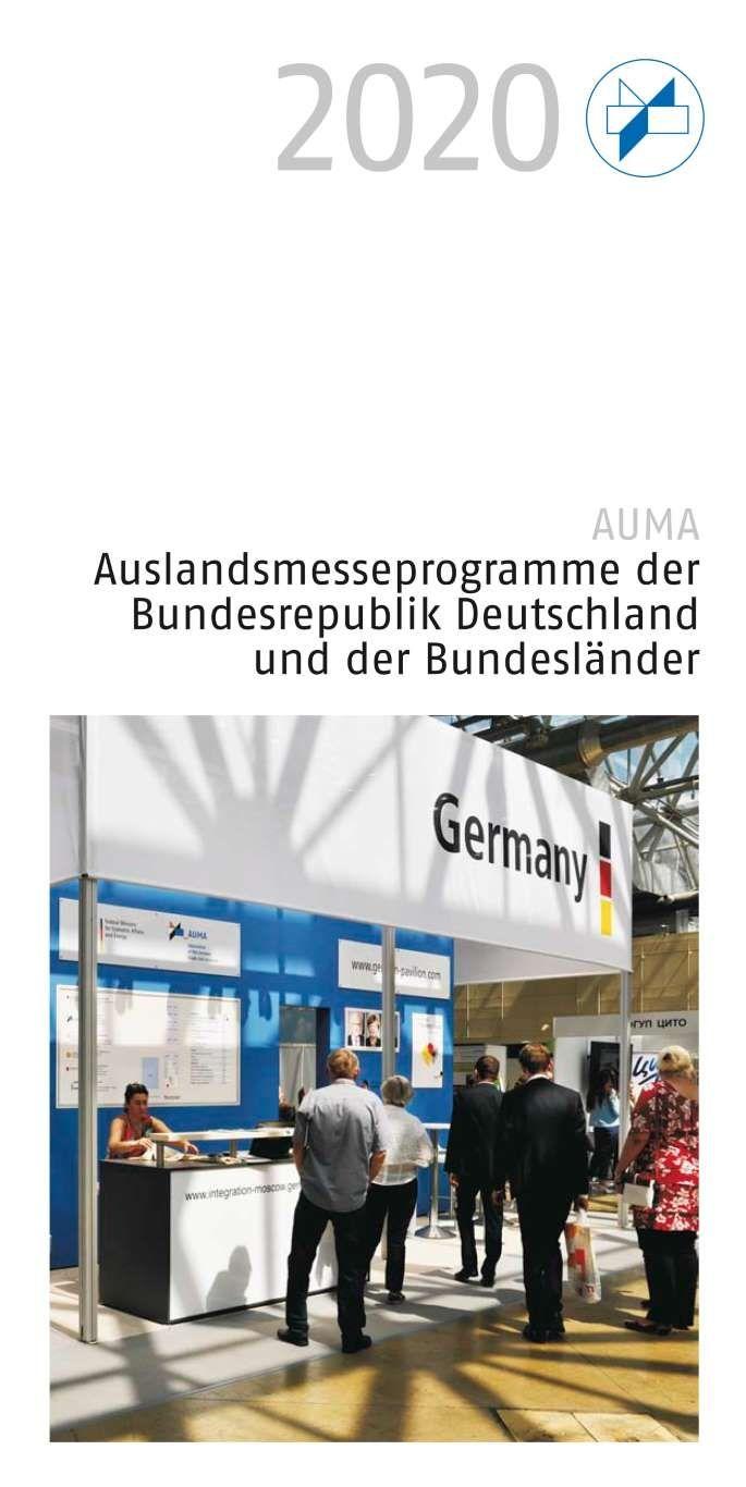 AUMA veröffentlicht Auslandsmesseprogramm 2020