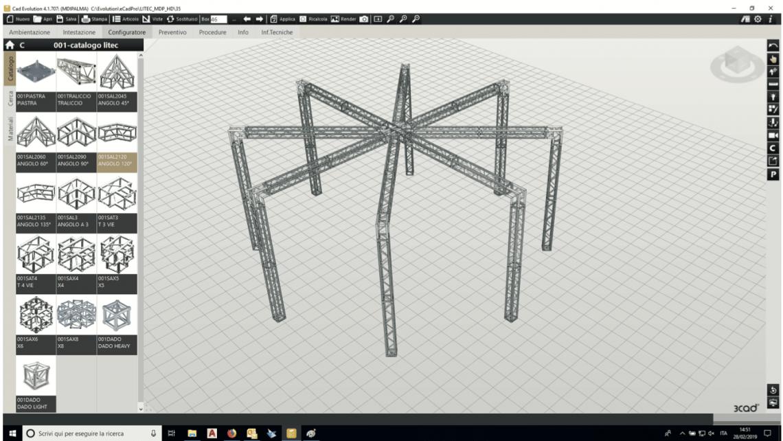Entdecken Sie den LiteCAD Evolution CAD Truss Structure Configurator
