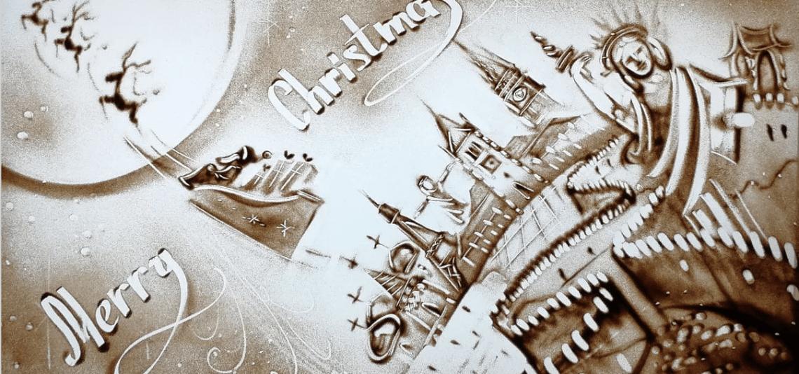 SAND MALEREI SHOW – zur vorweihnachtlichen Zeit