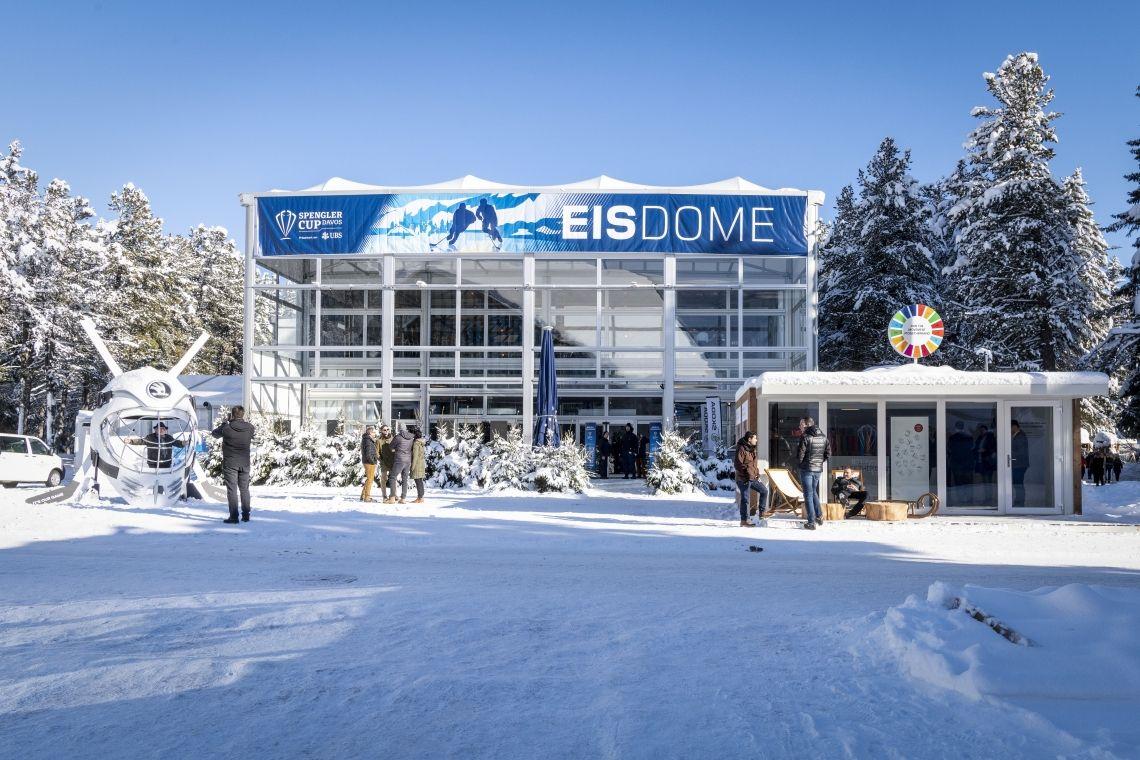 Neptunus baut optimal isoliertes VIP-Hospitality Gebäude für Spengler Cup