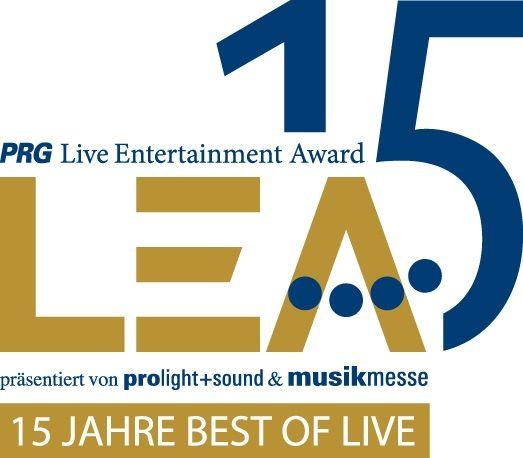 PRG Live Entertainment Award am 30. März 2020 in der Festhalle: 15 Mal LEA, 10 Mal in Frankfurt – Deutscher Live Entertainment-Preis feiert doppeltes Jubiläum